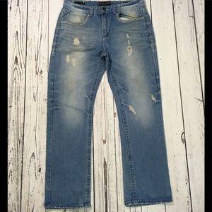 Buckle Black light wash distressed denim jeans